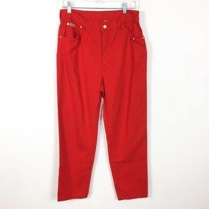 Vintage Escada High Waist Straight Red Jeans 42